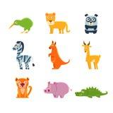 Экзотическое собрание фауны игрушки Стоковые Фотографии RF