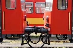 экипажи железнодорожные Стоковые Изображения