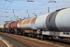 Экипажи железной дороги масляного бака стоковые изображения