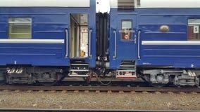Экипажи поезда на платформе стоковая фотография rf