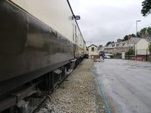Экипажи поезда пара Стоковое фото RF
