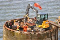 Экипаж и промышленное оборудование подрыванием Стоковые Изображения RF