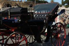 Экипаж лошади в Риме, Италии стоковое изображение rf