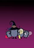 Экипаж партии хеллоуина Стоковое Изображение RF