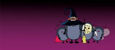 Экипаж партии хеллоуина Стоковое Изображение