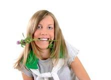 Экологическая девушка Стоковые Фото