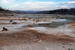 Экологическая катастрофа в городе Karabash, самом пакостном месте на планете стоковые изображения