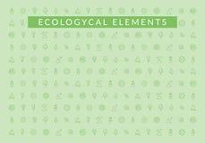 экологические элементы Картина значков экологичности стоковое изображение rf