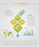 экологические элементы infographic Стоковое Изображение RF