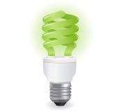 экологические lightbulbs иконы Стоковая Фотография RF