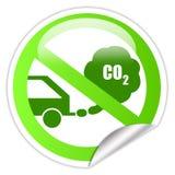 экологический переход стикера Стоковое фото RF