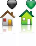 экологический постоянный посетитель дома против Стоковая Фотография RF