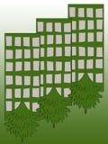 экологичность города Стоковое Изображение