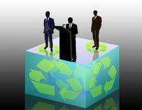 экологичность конференции иллюстрация вектора