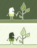 экологичность покрашенная шаржем Стоковые Фотографии RF