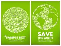 экологичность принципиальной схемы гловальная Стоковое Изображение