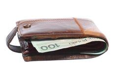 Экономика и финансы. Бумажник при польская изолированная банкнота Стоковые Фотографии RF