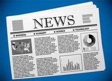 Экономика США и иллюстрация газеты финансов Стоковое Изображение