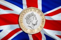 Экономика фунта Великобритании для дела и финансовой иллюстрации идей концепции, предпосылки Концепция с фунтом Великобритании де иллюстрация вектора