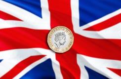 Экономика фунта Великобритании для дела и финансовой иллюстрации идей концепции, предпосылки Концепция с фунтом Великобритании де иллюстрация штока