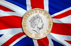 Экономика фунта Великобритании для дела и финансовой иллюстрации идей концепции, предпосылки Концепция с фунтом Великобритании де бесплатная иллюстрация