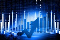 Экономическая диаграмма фондовой биржи Стоковое Изображение RF