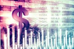 Экономическая диаграмма фондовой биржи Стоковое Фото