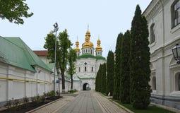Экономические ворота Киева-Pechersk Lavra стоковое изображение rf