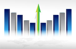 экономический рост принципиальной схемы Стоковое фото RF