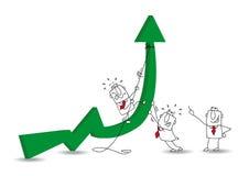 Экономическое развитие иллюстрация вектора
