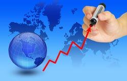 экономия гловальная иллюстрация вектора