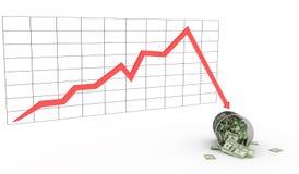 экономия диаграммы Стоковая Фотография RF