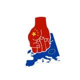 экономия европа поражения фарфора Стоковое фото RF