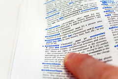 экономия словаря Стоковое фото RF