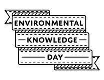 Экологическая эмблема приветствию дня знания Стоковая Фотография RF