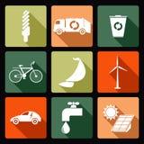экологические иконы Стоковая Фотография