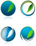 Экологический комплект логотипа Стоковые Фото