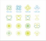Экологический комплект логотипа Стоковое Изображение