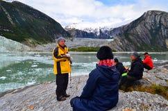 Экологический туризм в Патагонии, Чили стоковое изображение rf