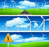 Экологичность и естественные знамена Стоковая Фотография