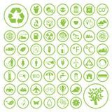 Экологичность и рециркулирует значки, вектор eps10 Стоковая Фотография RF