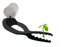 Экологичность нефти Стоковые Изображения