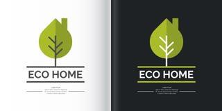 Эко-поселение Элемент логотипа и дизайна Стоковое Изображение