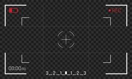 Экранный дисплей видеозаписывающего устройства вектора видоискателя рамки камеры бесплатная иллюстрация