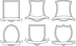 Экраны и тесемки (вектор) бесплатная иллюстрация