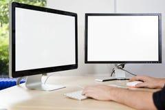 Экраны представления модель-макета Стоковая Фотография