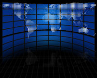 Экраны с запроектированной картой земли Стоковые Фото