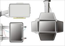 экраны установили techno иллюстрация вектора