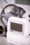 Экран автомобиля DVD-плеер Стоковая Фотография