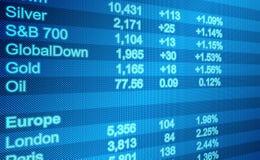 Экран данным по мирового рынка Стоковая Фотография RF